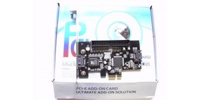 PCI-E card SATA + IDE řadíč