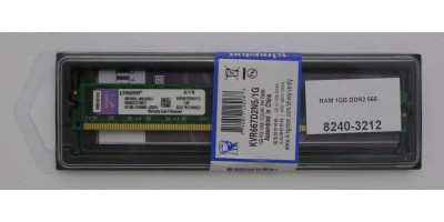 pamět DDR2 1GB RAM 666MHz Kingston