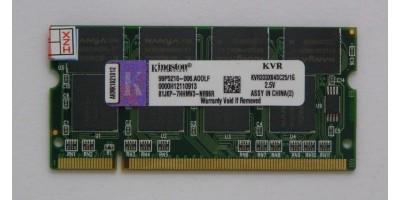 paměť DDR 1GB RAM 333MHz Kingston pro laptop