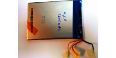 baterie 4,2V 2600mAh 93x67x5 3pin