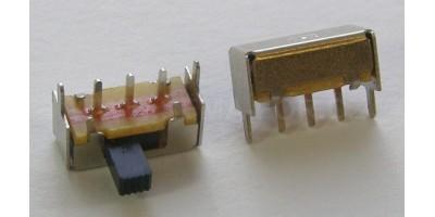 přepínač 13x6x6 bok, 2 polohy, 3 pin