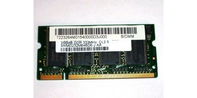 DDR1 256MB RAM 333MHz použité pro laptop