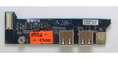 Aspire 3690 USB porty, tlačítka, použitá deska
