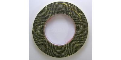lepící páska oboustranná pěnová černá 10mm 4,6m 2mm