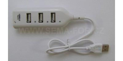 hub USB 4 port white