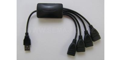 hub USB 4 port black s kabely