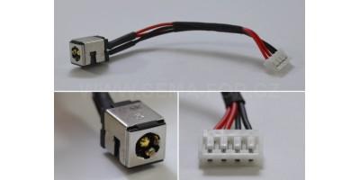 napájecí konektor s kabelem CON098 - 2,50mm -100mm Asus K50