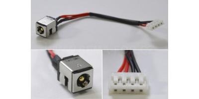 Napájecí konektor s kabelem Asus K40 K50 K60 K70 P50 X5 - 6,5/2,5mm