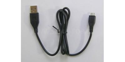 plochý kabel žlutý USB-micro USB 1,0m