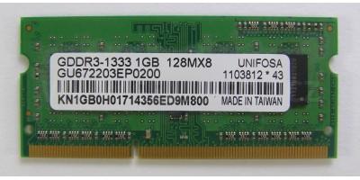 RAM 1GB DDR3 1333 sodimm použitá