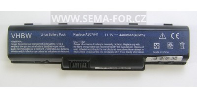 baterie AS07A41 11,1V 4.4Ah pro Acer Aspire, Acer Extensa a Gateway