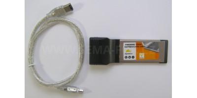PCMCIA card 2x FireWire Express Card