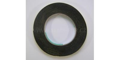 lepící páska jednostranná pěnová černá 10mm 4,6m 1,5mm