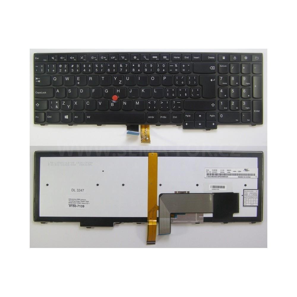 Tlačítko klávesnice IBM Lenovo ThinkPad Edge T540P T540 W540 E531 E540  black CZ + backlight