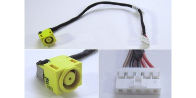 Napájecí konektor s kabelem Lenovo Ideapad B590 V580 V580A V580C - 7,9x5,5mm - 5pin