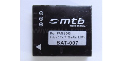 baterie pro fotoaparáty Panasonic, Leica, Ricoh CGA S005 (BAT-007)