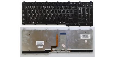 Tlačítko klávesnice Toshiba Satellite A500 L350 L500 P100 P200 P300 black CZ podsvit