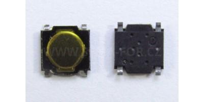 SMD Switch 5*5*0,75mm 2 - pájecí plošky pod tlačítkem