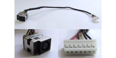 Napájecí konektor s kabelem HP 630 631 635 636 646121-001 Compaq CQ57 CQ43  200mm