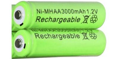 tužková baterie NI-MH AA 3000mAh - nabíjecí