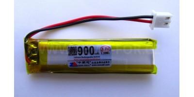 baterie ZC LION 3,7V 900mAh, 60*15*8mm 2pin