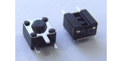 Micro Switch 4,5x4,5x3,5mm pájecí nožky tlač. z boku