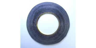 lepící páska oboustranná černá 2mm 50m 0,15mm
