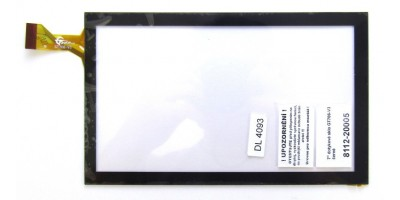"""7"""" dotykové sklo GT706-V3 černé"""