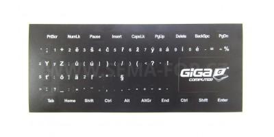 nálepky na klávesnici CS černé s bílým potiskem GC