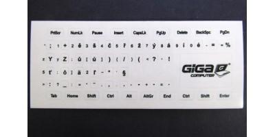 nálepky na klávesnici CS průhledné s černým potiskem GC