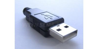 konektor USB A male 0 na kabel s krytkou