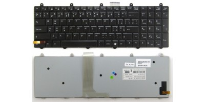 tlačítko klávesnice MSI GE60 GE70 GP60 GP70 black CZ dotisk podsvit