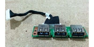 Acer Aspire 5220 5620 - 3x USB board s kabelem použitá