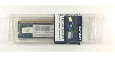 paměť Sodimm DDR3 4GB RAM 1600MHz Patriot pro laptopy