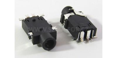 konektor 2,5 stereo jack zásuvka PJ227-6P