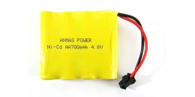 baterie AA 4.8V 700mAh RC Ni-Cd 2Pin nabíjecí