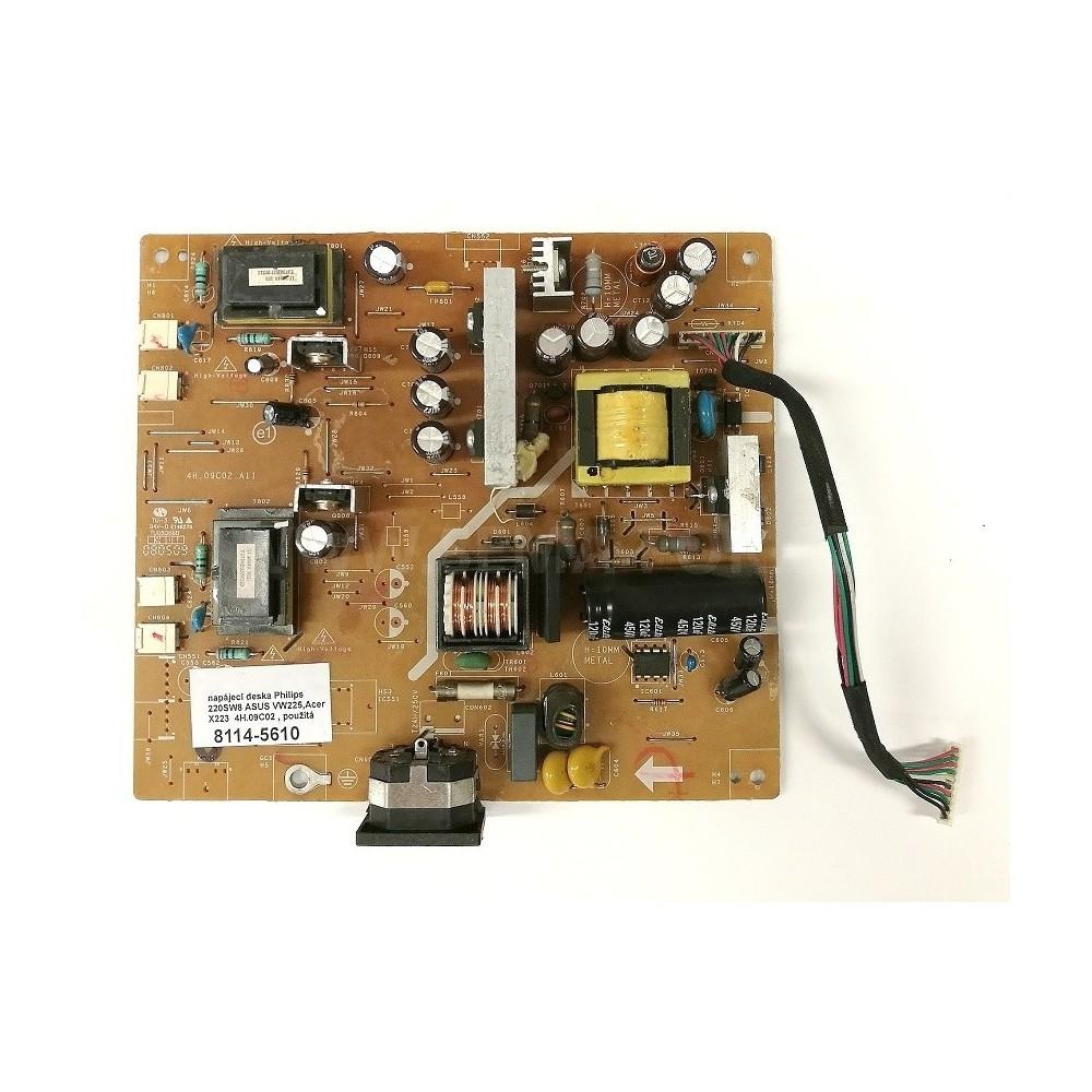 Power board  Philips 220SW8 ASUS VW225,Acer X223  , použitá