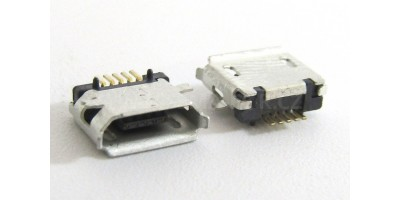 konektor micro USB B 5 pin female 6E