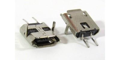 konektor micro USB B 5 pin female 76