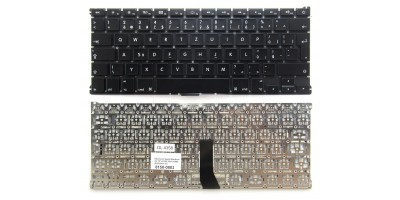 """klávesnice pro notebook Apple MacBook Air 13"""" A1369 2011 A1466 2012 black CZ česká no frame"""