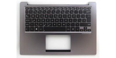 klávesnice Asus U38 U38DT CZ silver palmrest - backlight
