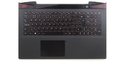 klávesnice Lenovo Y50 Y50-70 black CZ/SK - backlight - typ 1 palmrest s touchpadem