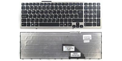 česká klávesnice Sony Vaio VPC-F11 VPC-F12 VPC-F13 black CZ/SK  - silver frame
