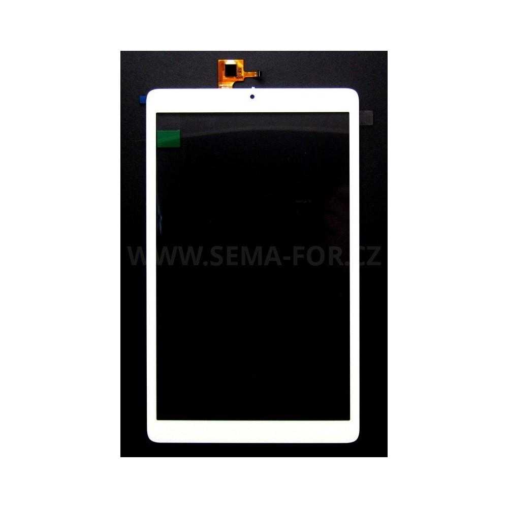 """10.1"""" dotykové sklo Alcatel OneTouch Pixi 3 (10) 3G 8080 8079 bílé - škrábanec 5mm PD roh"""