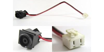 napájecí konektor s kabelem Sony VAIO VGN-NR PCG 7111 7112 7113 7131 7132 7133 7134 - 6,5x4,4mm - 2pin