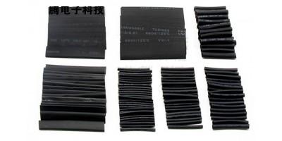 smršťovací bužírka černá - sada 127 ks