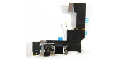 nabíjecí + audio board pro iPhone 5 5S - A1453, A1457, A1518, A1528, A1530, A1533 bílý