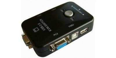 2 Portový manuální KVM přepínač  USB