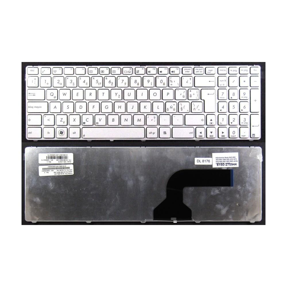 klávesnice Asus A43 A52 A53 B53 G60 G53 G72 G73 K52 N50 N51 N53 N60 N61 white ESP/CZ/SK dotisk