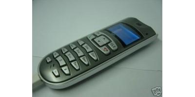 VOIP telefon stříbrný, USB
